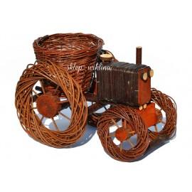Ozdoba - Traktor wiklinowy 01