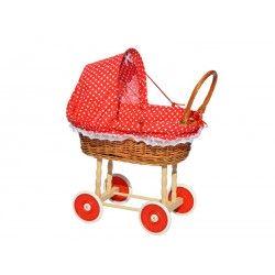 Wózek dla lalek Czerwony - serduszka