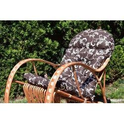 Poducha na fotel bujany - Barok Brąz