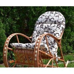 Poducha na fotel bujany - Barok Ecru