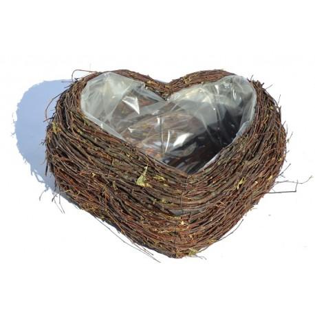 Doniczka brzozowa serce 01