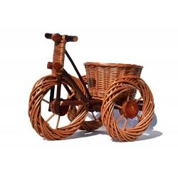Ozdoba - Rowerek wiklinowy Jasny