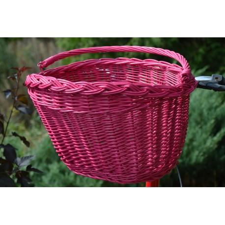 Kosz na zakupy na rower - różowy WYPRZEDAŻ