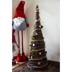 Stożek z brzozy/ choinka jesienna Drzewnko Świąteczne 100 cm