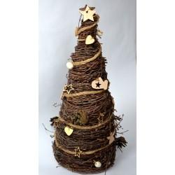 Stożek z brzozy / Choinka brzozowa/ Drzewko świąteczne 40 cm