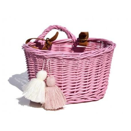 Kosz na zakupy na rower 01 - różowy