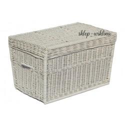 Kufer płaski biały