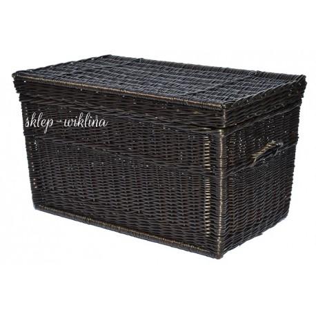 Kufer płaski brąz