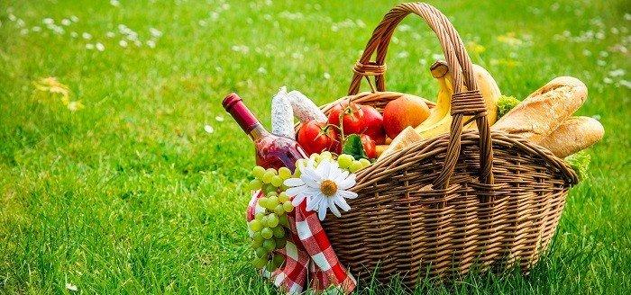 Kosze piknikowe zakupowe